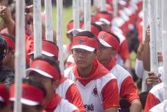 INDONEZYJSKI DEMOKRATYCZNY przyjęcie walka profil Zdjęcie Royalty Free