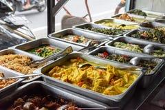 Indonezyjski karmowy bufet zdjęcia stock