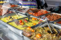 Indonezyjski karmowy bufet fotografia stock