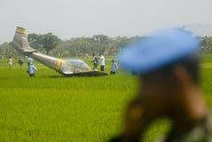 INDONEZYJSKI siły powietrzne arsenału ulepszenia plan Obraz Royalty Free