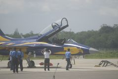 INDONEZYJSKI siły powietrzne samolot Zdjęcie Royalty Free