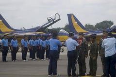 INDONEZYJSKI siły powietrzne samolot Obrazy Royalty Free