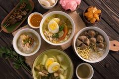 Indonezyjski Tradycyjny jedzenie zdjęcie stock