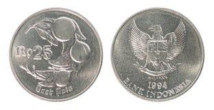 Indonezyjskiej rupii monety set Fotografia Stock