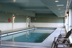 Indoor Apartment Swimming Pool. A new condo swimming pool stock photos