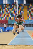 Indoor Athletics Record Attempt Races Royalty Free Stock Images
