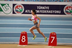 Indoor Athletics Record Attempt Races Royalty Free Stock Photos