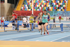 Indoor Athletics Record Attempt Races Royalty Free Stock Image