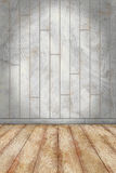 Indoor background with colored wall and stone floor  wooden plan Royalty Free Stock Photos