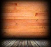 Indoor background with wood planks finishing Royalty Free Stock Image