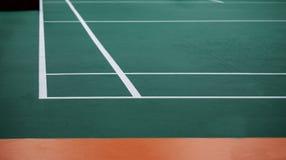Indoor badminton court. Selective focus royalty free stock photo