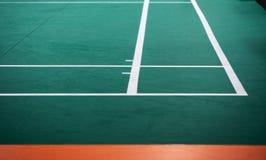 Indoor badminton court. Selective focus stock image