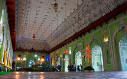 Indoor of Bara Imambara in Lucknow Stock Images