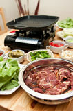 Indoor Barbecue Stock Photo