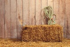 Free Indoor Barn With Hay Bale Stock Image - 180594781