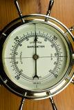 Indoor Barometer. Atmospheric Air Pressure Gauge stock photo
