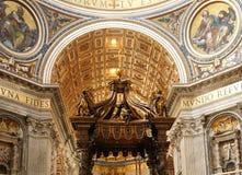Indoor Basilica in Vatican Stock Image