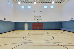 Indoor basketball court. As might be found at a gym, club or school Stock Photo