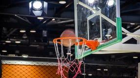 Indoor basketball court Stock Photo