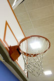 Indoor Basketball Hoop Stock Photography