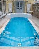 Indoor beautiful swiming-pool Stock Images