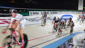 Indoor bike track race sixday nights Zurich Stock Images