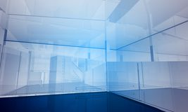 Indoor building. Office space Stock Photography