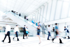 Indoor Business Rush Hour Scene Stock Image