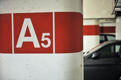 Indoor car park Royalty Free Stock Photography