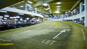 Indoor Car Park. Ramp in Amsterdam, Netherlands Royalty Free Stock Photos