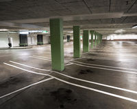 Indoor carpark Royalty Free Stock Images