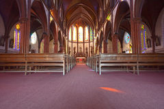 Indoor of catholic Church Stock Image