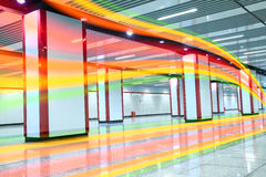 The Indoor channel brilliant light colored lines Royalty Free Stock Photos