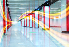 The Indoor channel brilliant light colored lines Royalty Free Stock Image