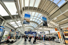 Indoor channel in Chicago airport Royalty Free Stock Photography
