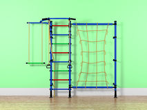 Indoor children playground. In a room Royalty Free Stock Photos