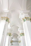 Indoor Christian Church With Lights Stock Images