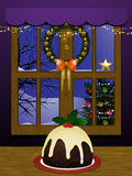 Indoor Christmas scene Royalty Free Stock Images