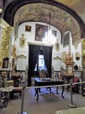 Church-San Juan de Dios-Granada-Andalusia. Indoor church-San Juan de Dios-Granada-Andalusia old object Stock Photos