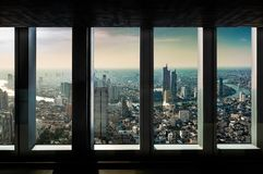 Indoor cityscape view point royalty free stock image