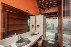 Indoor Clean Bathroom Royalty Free Stock Photo