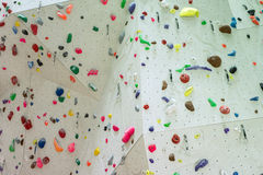 Indoor Climbing gym wall detail Stock Images