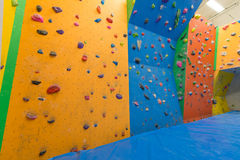 Indoor climbing training Stock Photo