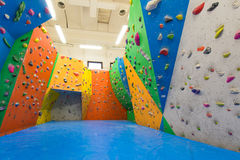 Indoor climbing training Royalty Free Stock Images