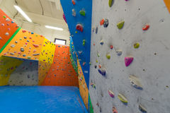 Indoor climbing training Royalty Free Stock Photos