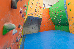 Indoor climbing training Stock Image