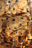 Indoor climbing wall Royalty Free Stock Image