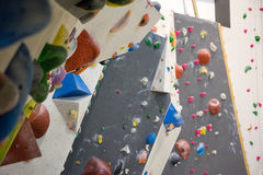 Indoor Climbing Wall Royalty Free Stock Photography