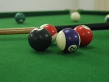 indoor club game billiards is the best stock photography