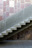 Indoor concrete staircase Royalty Free Stock Photos